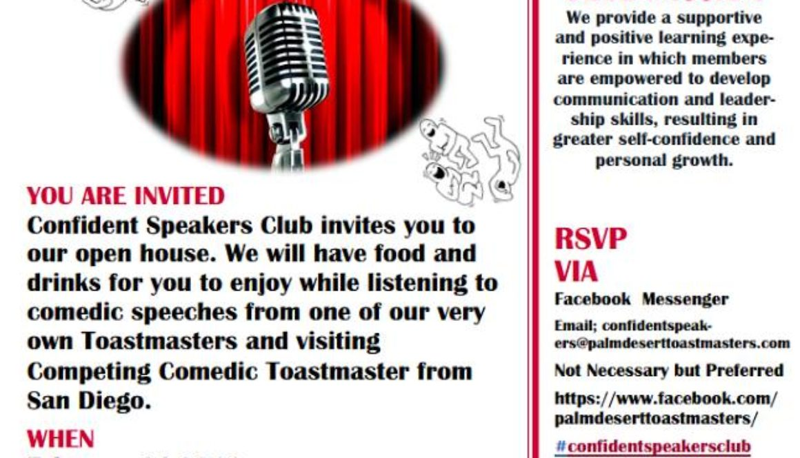 Palm Desert Toastmasters Club Open House